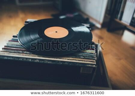 Vinyle record isolé blanche musique Photo stock © HectorSnchz