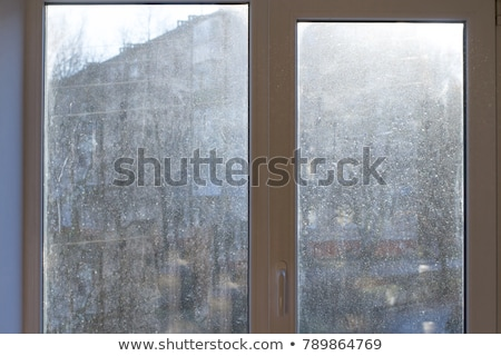 Vuile venster abstract afbeelding smerig industriële Stockfoto © sumners