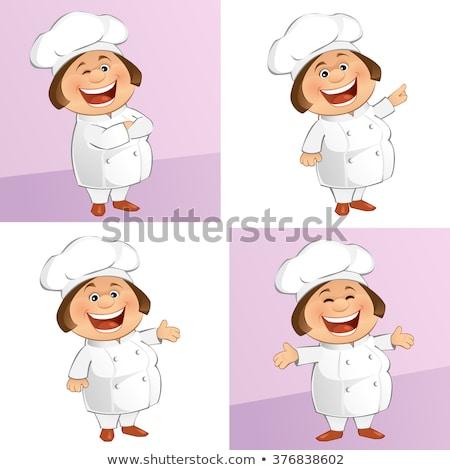 Rechoncho chef manos trabajo retrato Servicio Foto stock © photography33