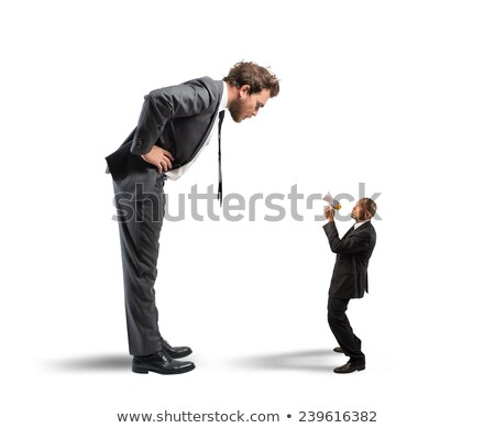 Businessman reprimanding his employee Stock photo © photography33