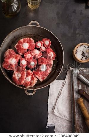 雄牛 尾 牛肉 まな板 食品 赤 ストックフォト © cynoclub