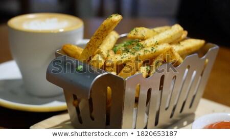 frit · pommes · de · terre · rouge · boîte · frites · françaises · carton - photo stock © shutswis