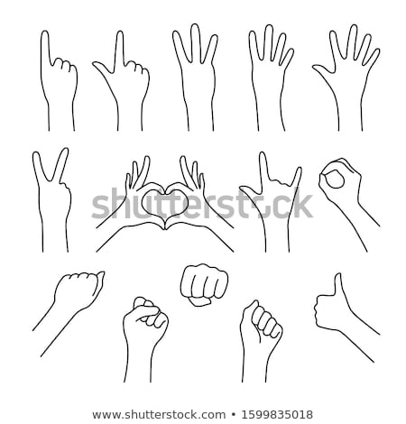 Female hand holding up the number 2 from the right Stock photo © stryjek