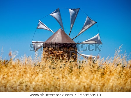 White ancient windmills Stock photo © deyangeorgiev