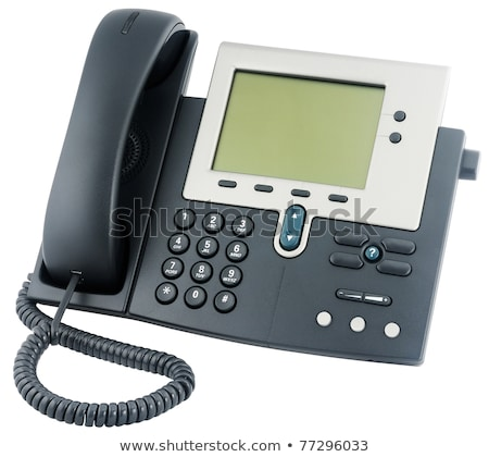 Office IP telephone set with LCD display isolated on white Stock photo © ozaiachin