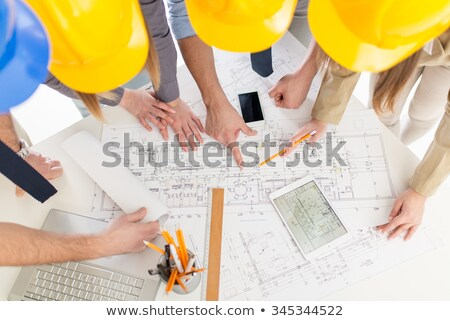 electrician and architect looking at plans stock photo © photography33