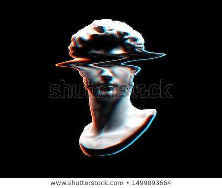 Marmer steen sculptuur zwarte studio fotografie Stockfoto © prill
