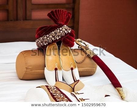 Indiai házasság cipők kép indiai menyasszony esküvő Stock fotó © gregory21