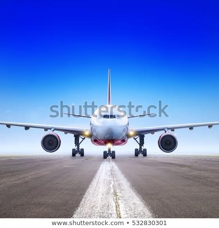 avión · listo · despegue · vuelo · en · el · extranjero · vacaciones - foto stock © ca2hill