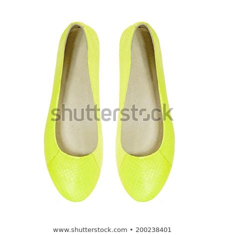 siyah · kadın · ayakkabı · yalıtılmış · beyaz · doku - stok fotoğraf © gsermek
