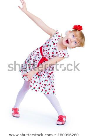 little girl with inhaler on white Stock photo © goce