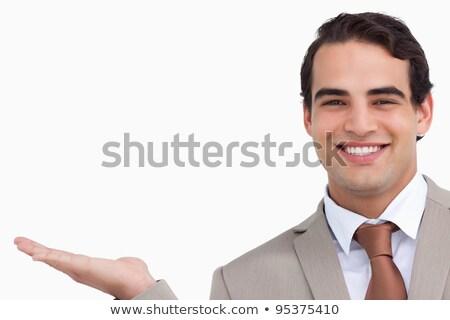 Dłoni biały strony tle biznesmen Zdjęcia stock © wavebreak_media