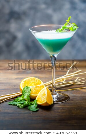 Blue cocktail on the table Stock photo © moses