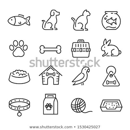 vetor · ícone · animal · de · estimação · saco - foto stock © zzve
