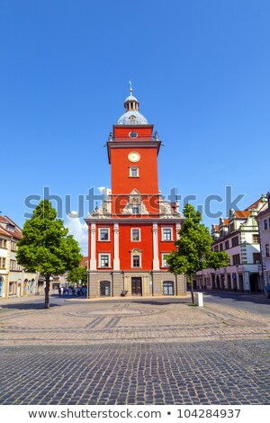 Gotha - central market with historic town hall Stock photo © meinzahn