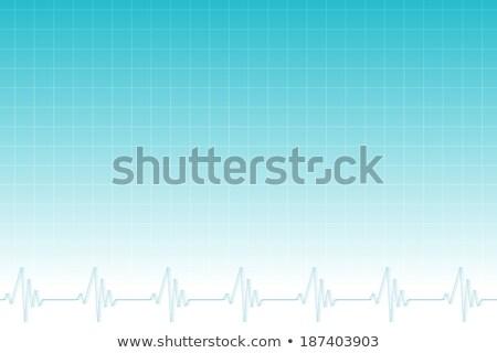 Kék hálózat ekg szívdobbanás terv háttér Stock fotó © wavebreak_media