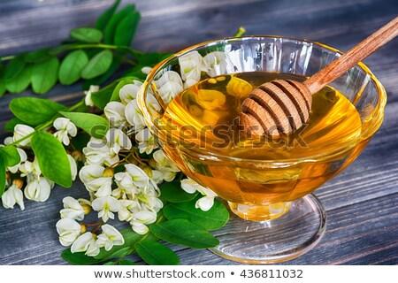 Honey in bowl and acacia flower  Stock photo © manaemedia