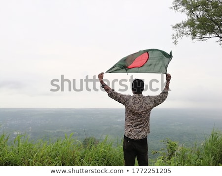 Bangladeshi Flag Stock photo © shawlinmohd