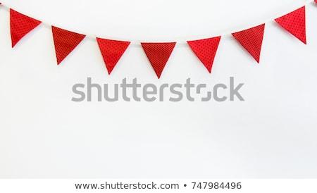 Bandiera bianco pubblicità marketing icona felice Foto d'archivio © Lightsource