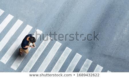Drogowego przejście dla pieszych wody krajobraz ulicy odkryty Zdjęcia stock © zzve