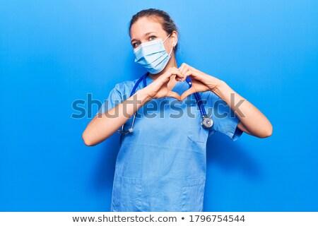 愛 · 美人 · 心臓の形態 · 手 · 孤立した - ストックフォト © iko