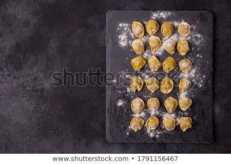 Italiano tortellini frescos mano orégano alimentos Foto stock © hd_premium_shots