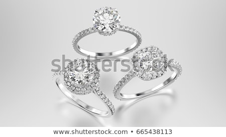 brilliant diamond engagement ring in white gold stock photo © carpathianprince