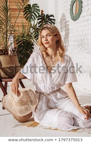 woman wearing a jumpsuit Stock photo © stepstock