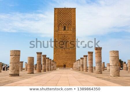 Mauzóleum torony király Marokkó Afrika épület Stock fotó © Hofmeester