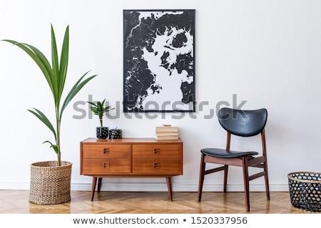 Ahşap iç bağbozumu oda resim çerçevesi ürün Stok fotoğraf © stevanovicigor