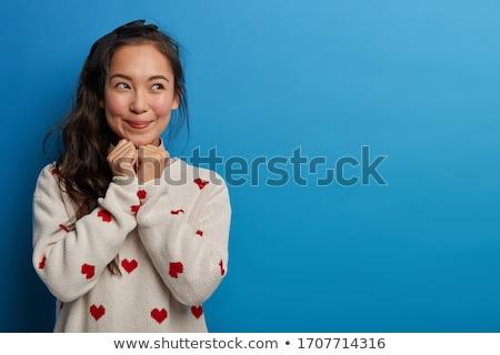 Brunette woman in tempting pose Stock photo © konradbak