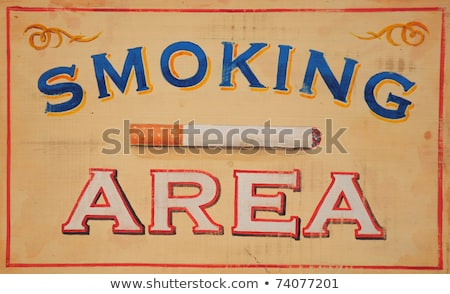 smoking area sign wood Stock photo © tungphoto