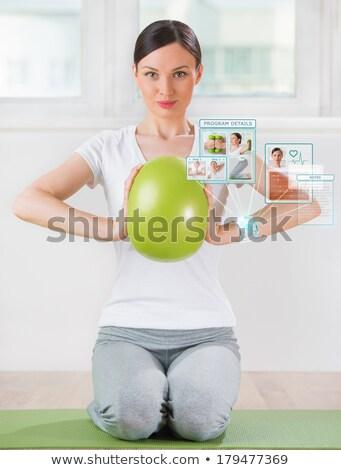 kadın · spor · kalp · hızı · spor · sağlık - stok fotoğraf © hasloo