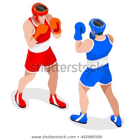 бокса игрок набор вектора спорт мужчин Сток-фото © Maja85