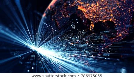 globalisering · lijn · icon · vector · geïsoleerd · witte - stockfoto © cherezoff