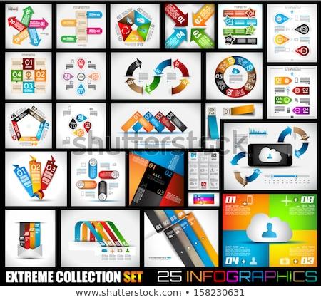 Quality web elements with infographic. Stock photo © DavidArts