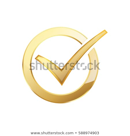 the golden check mark Stock photo © flipfine