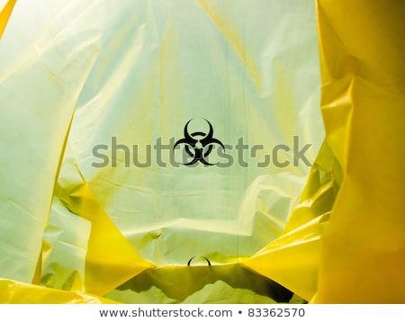 Táska bioveszély szimbólum gyógyszer fehér vegyi Stock fotó © gladiolus