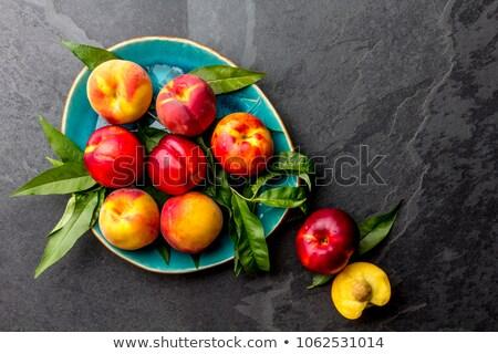 Fresco prato comida fundo vermelho Foto stock © marylooo