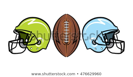 Sketch helmet and american football ball Stock photo © kali