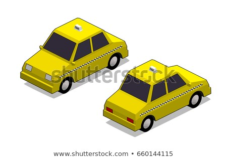 Orthographic yellow cab Stock photo © ambualang