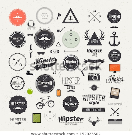 hipster style elements and icons set for retro design stock photo © nokastudio