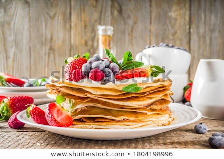 Crepe frutas madeira café da manhã banana fresco Foto stock © M-studio