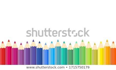színes · ceruzák · hullám · függőleges · keret · tarka - stock fotó © zhekos