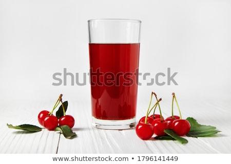 vers · fruit · kers · drinken · transparant · glas · beker - stockfoto © yelenayemchuk