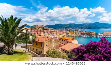 Sziget kilátás Toszkána Olaszország égbolt város Stock fotó © Antonio-S
