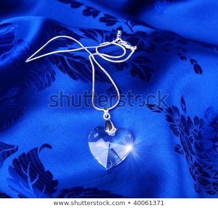 Prata colar vidro coração beleza ouro Foto stock © gsermek