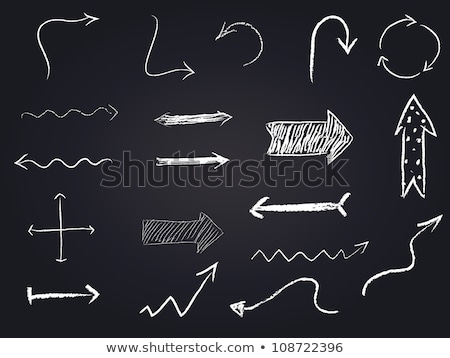 two blank rectangles and arrow on blackboard Stock photo © PixelsAway