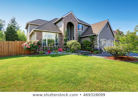 house exterior with brick trim stock photo © iriana88w