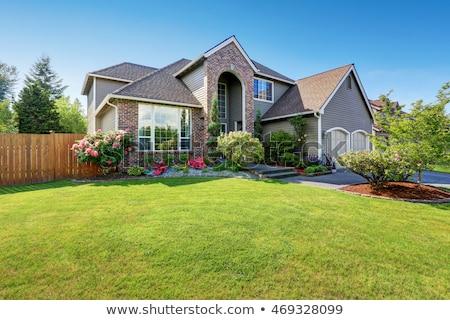 Сток-фото: House Exterior With Brick Trim